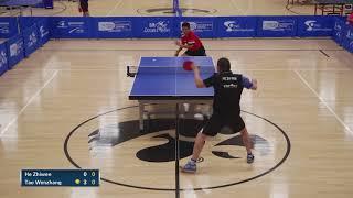 2018 Paddle Palace Hawkeye Open - MS Semi-Finals - He Zhi Wen Vs Tao Wen Zhang (Highlights)