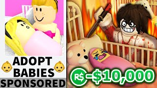 I made a MESSED UP Roblox adoption center... and got noobs to join