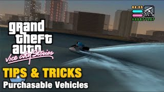 GTA Vice City Stories - Tips & Tricks - Purchasable Vehicles