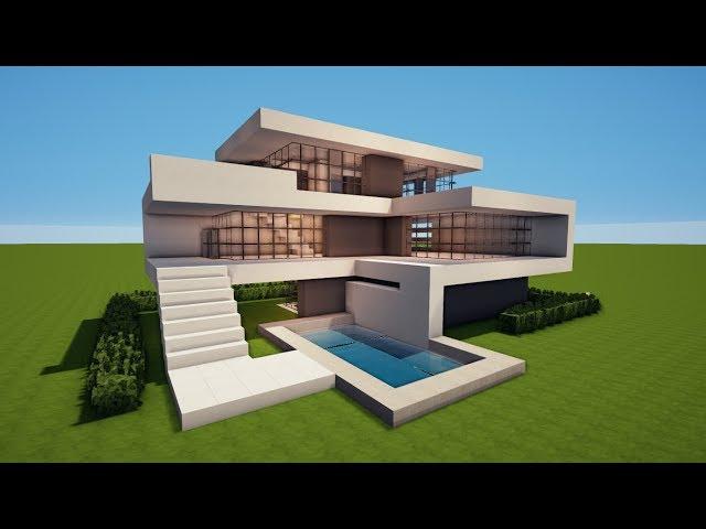 Minecraft Villa Bauen Tut Großes Modernes Minecraft Haus Mit Pool - Minecraft haus zum bauen