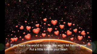 Put A Little Love in Your Heart with Lyrics