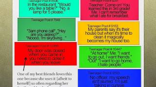 Teenager Posts And LOLSOTRUE Powerpoint