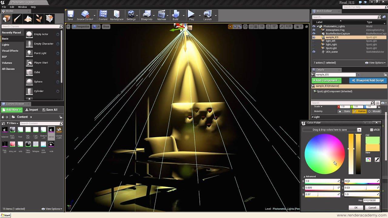 Photometric light in Unreal Engine 4 Tutorial