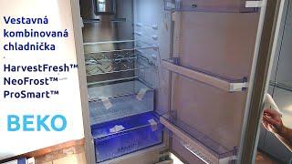BEKO Built-in fridge freezer BCNA275E4SN unpacking, test start, for kitchen cabinet integrateion