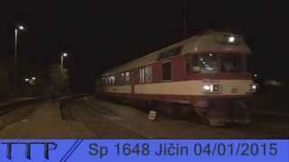 preview picture of video 'Sp 1648 Jičín 4.1.2015'
