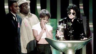 Michael & Janet Jackson Reciben Premio - MTV Mejor Baile En Un Video 1995 Sub. Español