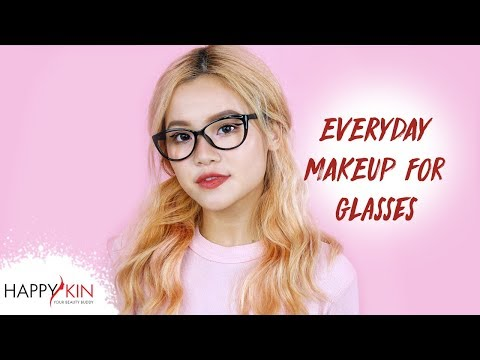 Cách Trang Điểm Hàng Ngày Dễ Thương Cho Nàng Mắt Cận Đeo Kính   Happy Skin