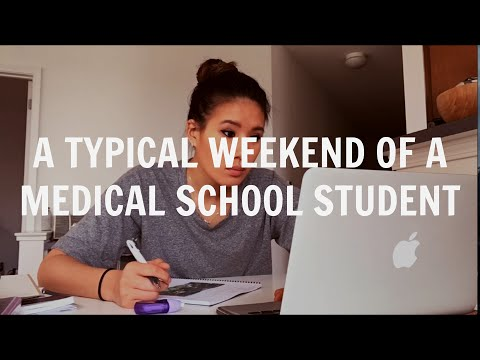 Video tipikal akhir pekan murid kedokteran / vlog murid kedokteran