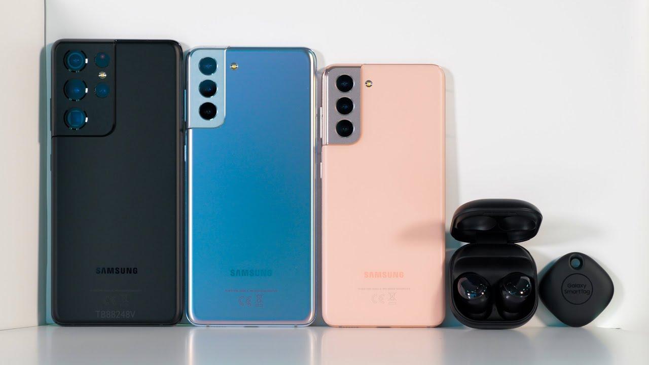 Samsung Galaxy S21 2021 G991B 8/128GB Phantom Violet (SM-G991BZVDSEK) video preview