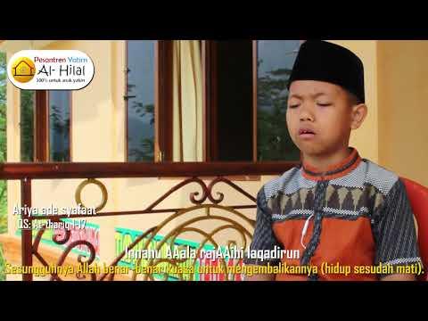 Hafalan Al Qur'an Anak Yatim santri ariya Ade Syafaat