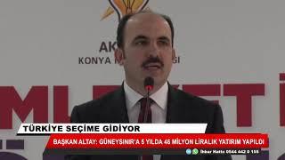 Başkan Altay: Güneysınır'a 46 milyon liralık yatırım yapıldı