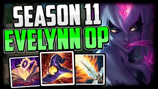HOW TO PLAY EVELYNN JUNGLE SEASON 11 + NEW OP BUILD/RUNES - Evelynn Commentary Guide