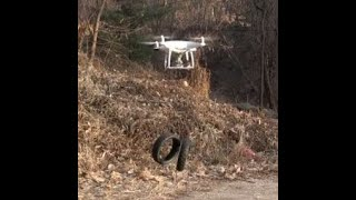 DJI Phantom 4 airdrop system lifting weight test