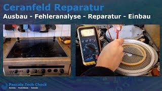 Siemens Ceranfeld Reparatur   Ausbau, Fehleranalyse, Reparatur und Einbau der Kochfeldplatte