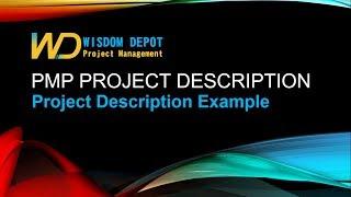 PMP Appliction Project Description Sample