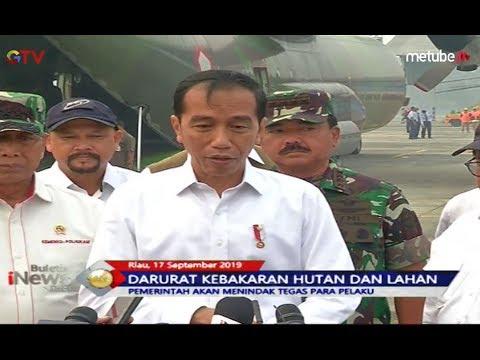 Presiden Jokowi Janji Tindak Tegas Pelaku Pembakaran Hutan - BIP 18/09