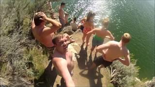 Ririe Cliff Jumping in Idaho