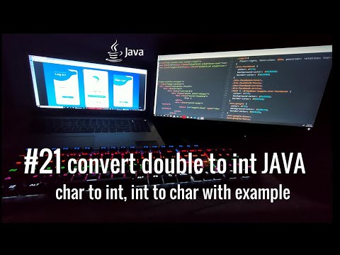 #21 java how to convert double to int, char to int, int to char with example.