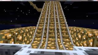 My Minecraft Minecart track FINISHED