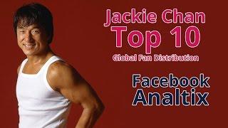 Jackie Chan - Facebook Top 10 Global Fan Distribution (November 2016)