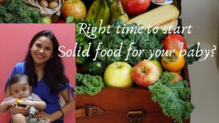 Right time to start solid food for babies|Weaning for 6 month baby