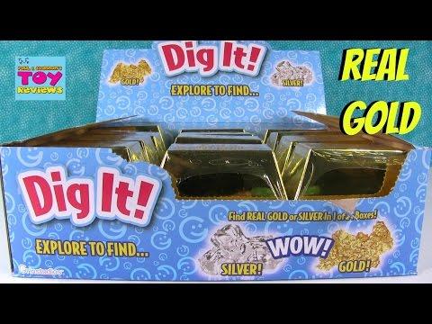 Digging For Gold Dig it Surprises Inside Treasure Gold Bar   PSToyReviews