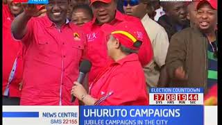 Jubilee supporters go wild as First Lady Margaret address Uhuru Park Rally