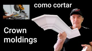 Metodo Facil Para Cortar Crown Moldings O Molduras De Corona