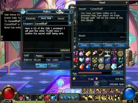Transaction DFO Sacred Staff 150k