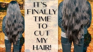 Its Finally Time For My Haircut! | Cutting Long Natural Hair #EbsCurlyTV #NaturalHair