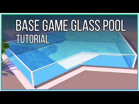 Sims 4 Tutorial - Base Game Glass Pool (No CC, No Mods) | Kate Emerald