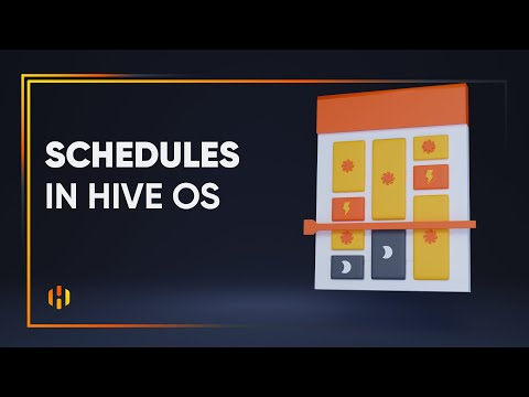 Schedules in Hive OS: control workers by time