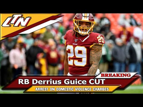 Washington 🏈 Report Shorts | Initial Reaction to Former Washington 🏈 Team RB Derrius Guice Being Cut