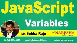 JavaScript Variables   JavaScript Tutorial   Mr. Subba Raju