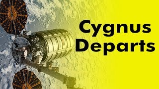 Cygnus Resupply ship leaving the ISS (Created with Twixtor)