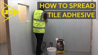 Top Tip – How to Spread Tile Adhesive