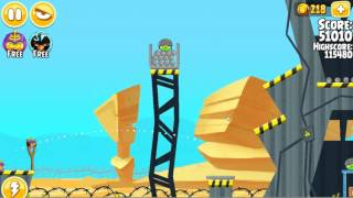Angry Birds Seasons Power Up Test Site Special Power Walkthrough