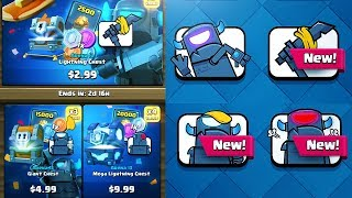 BOUGHT ALL 4 NEW MINI PEKKA EMOTES in CLASH ROYALE!