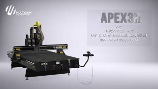 APEX3R CNC Router Cutting .25″ PVC