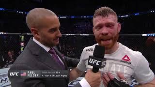 UFC Финикс: Пол Фелдер - Слова после боя