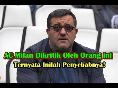 [BREAKING NEWS] AC Milan Dikritik Orang ini, Ternyata Inilah Penyebabnya!