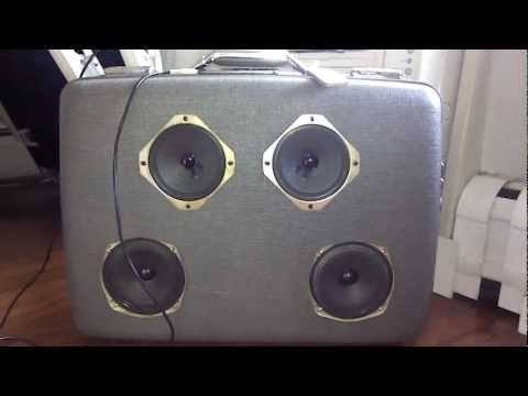 DIY Luggage Speaker Set Lets The Party Travel With You