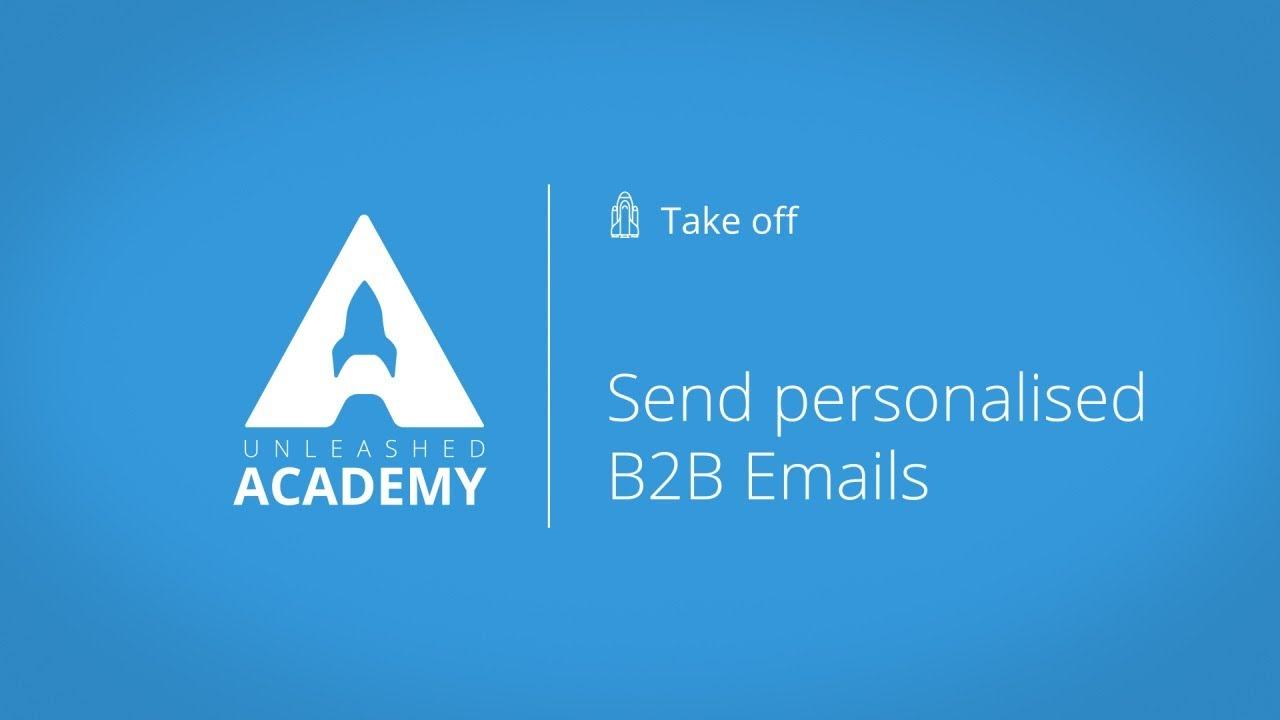 Send personalised B2B Emails YouTube thumbnail image