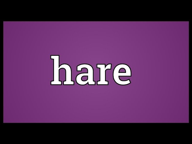 Hare-meaning
