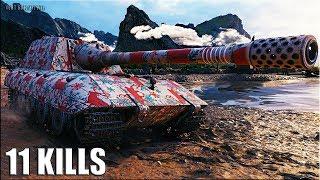 ЯГА Е 100 ТАЩИТ 🌟 11 фрагов 🌟 World of Tanks лучший бой Jagdpanzer E 100