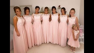 Pleated Sweetheart Wide Strap Light Coral Pink Chiffon Bridesmaid Dress