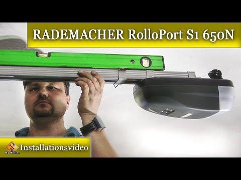 Garagentorantrieb einbauen / RADEMACHER RolloPort S1 - 650N
