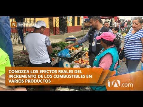 INEC publicó los efectos del incremento de combustibles en varios productos Teleamazonas