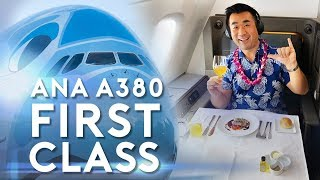 ANA A380 Flying Honu First Class Suite Honolulu Tokyo