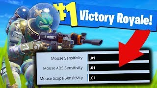 Can You Win With ZERO SENSITIVITY?   Fortnite Challenge